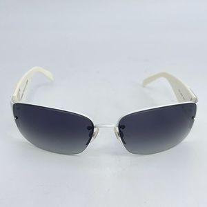 Chanel Swarovski Crystal White Frames Sunglasses